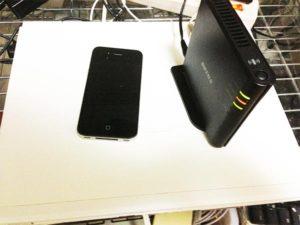 スマートフォンも無線LAN接続!